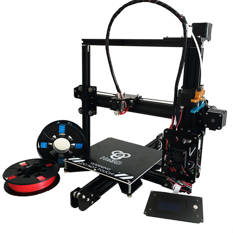 auto level large size HE3D EI3 Single Aluminium extruder prusa i3 DIY 3d printer kit SD card and two rolls of filament for gift