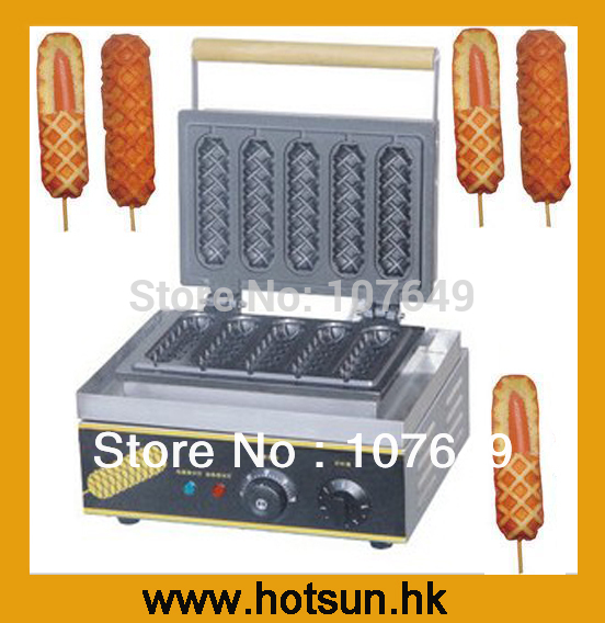 110 V 220 V Ticari Kullan Electric Lolly Waffle bir Çubuk Maker Makinesi